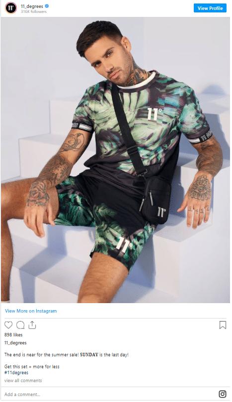 Josh Flannery 11 Degrees Instagram