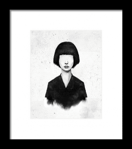 black and white arty poster