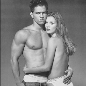 Marky Mark Wahlberg and Kate Moss Calvin Klein