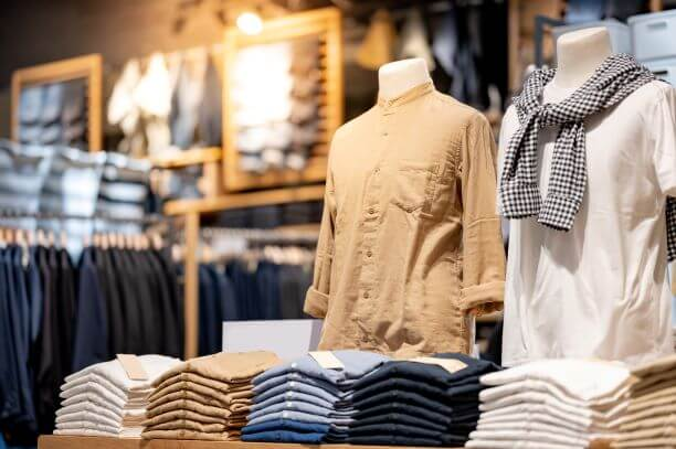 mens clothing in store