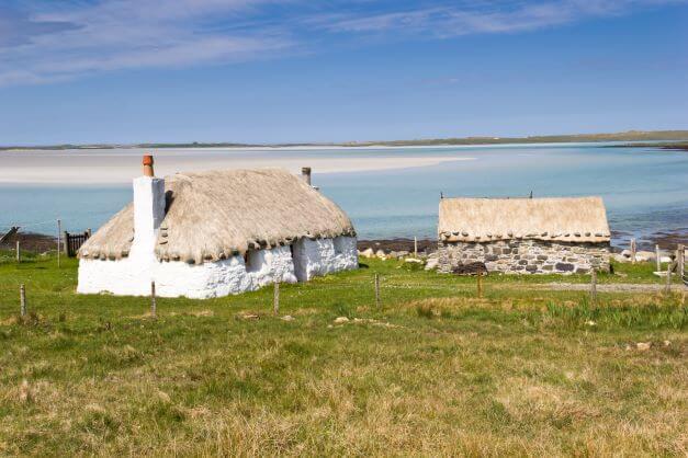 old cottages Outer Hebrides